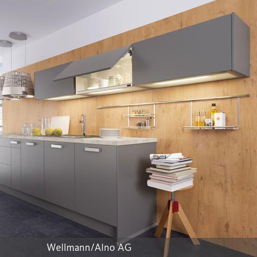 Dekorative Holzwand - alno küchen fronten