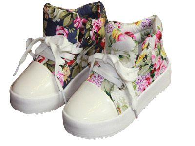 Zapatillas deportivas para niñas con diseño floral