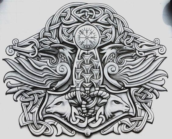 Pinterest ein katalog unendlich vieler ideen for Ragnar head tattoo stencil