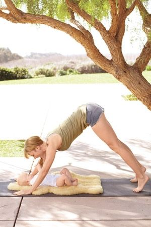 to do with the next baby...mommy and me yoga!