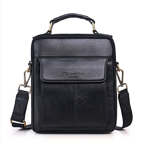 510156dfa0 Sunmig Men s Genuine Leather Shoulder Bag Messenger Briefcase CrossBody  Handbag