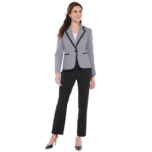 Tweed Pant Suit Womens