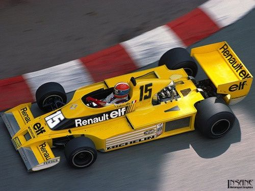 jean pierre jabouille renault rs01 f 1 team renault pinterest. Black Bedroom Furniture Sets. Home Design Ideas