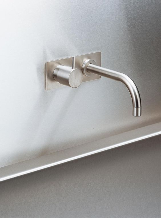 Brushed Stainless Steel Wall Mounted Tap Vola 112 I 2020