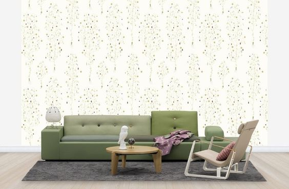 Apple Berry - Off White - Wall Mural & Photo Wallpaper - Photowall