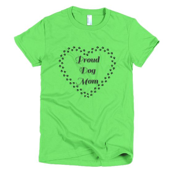 PROUD DOG MOM Short sleeve women's t-shirt