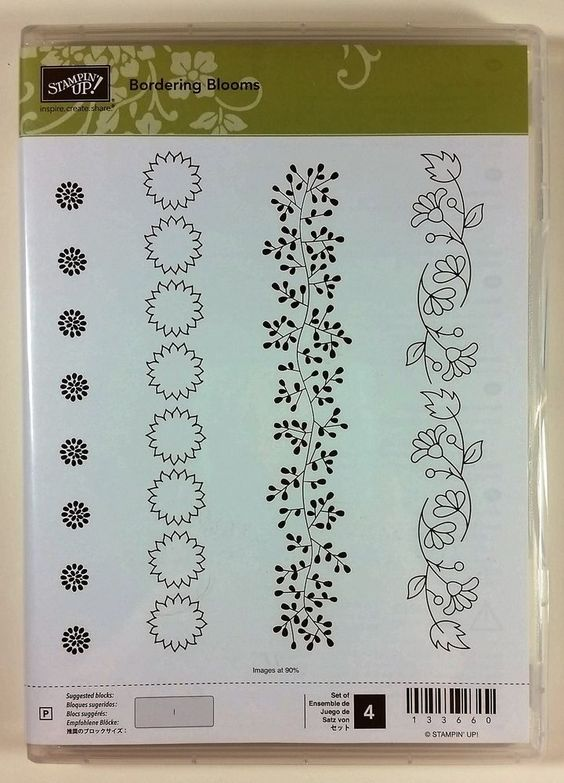 Stampin' Up! BORDERING BLOOMS (photopolymer) Borders Flower Vine NEW #StampinUp #Border