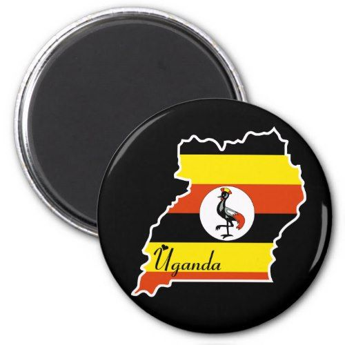 Uganda Magnet Zazzle Com Uganda Flag Uganda Flag Country