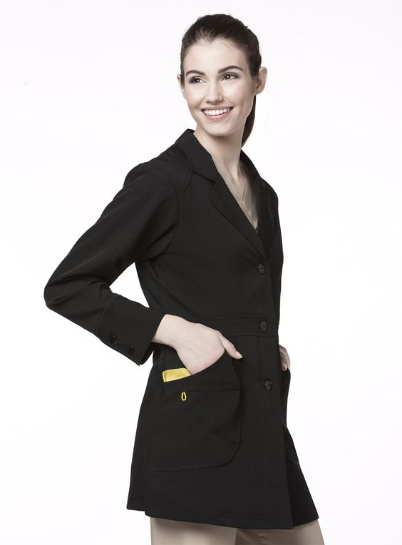 Tired of White Lab Coats? Get a black lab coat by WonderWink in