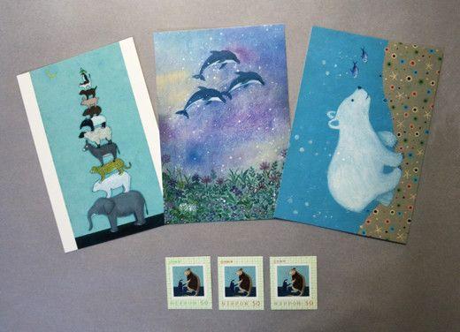 オリジナル切手50円×3枚とポストカード×3枚のセット販売です。ポストカード仕様:オフセット印刷         100×...|ハンドメイド、手作り、手仕事品の通販・販売・購入ならCreema。