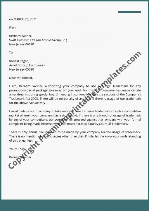Legal Letter Format Pdf Editable Business Letter Template