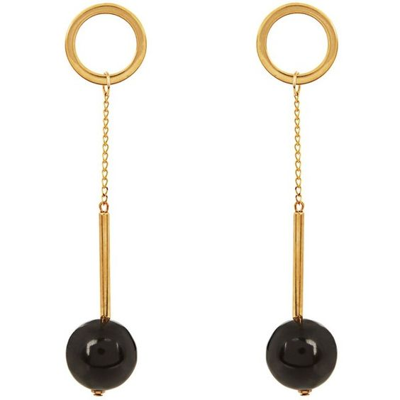 Marni Horn ball-drop earrings (3.118.690 IDR) ❤ liked on Polyvore featuring jewelry, earrings, ball earrings, marni jewelry, drop earrings, earrings jewelry and ball jewelry: