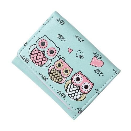Blue Owl Print and Pink Owl Card Pouch