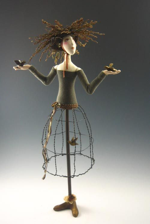 Love this doll by Cindee Moyer
