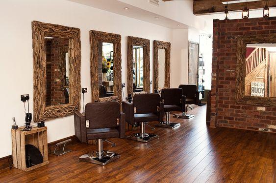 Rustic Salon The Mirrors Parlor Salon Pinterest