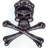Skull and Crossbones with Military Cap Patch