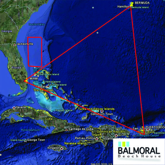 """What secrets lurk in the triangle of ocean between Florida's southern tip, Bermuda and San Juan, Puerto Rico? The Bermuda triangle is said to gobble up ships and airplanes without a trace. Slight problem with the legend: Most of the """"mysterious disappearances"""" cited by believers weren't mysterious at all, but occurred during storms or didn't even sink within the triangle's borders.  #Interesting #BermudaTraingle #StrangePlaces"""