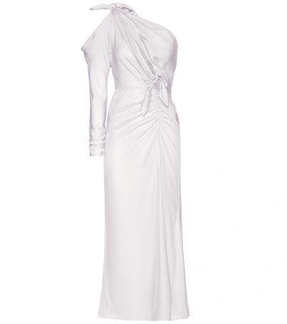 One-shoulder Kleid Aus Seidensatin