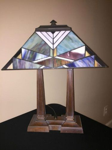 Glass accent lamp to brighten up any desk or table
