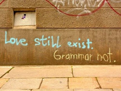 The Graffiti Grammar Nazi