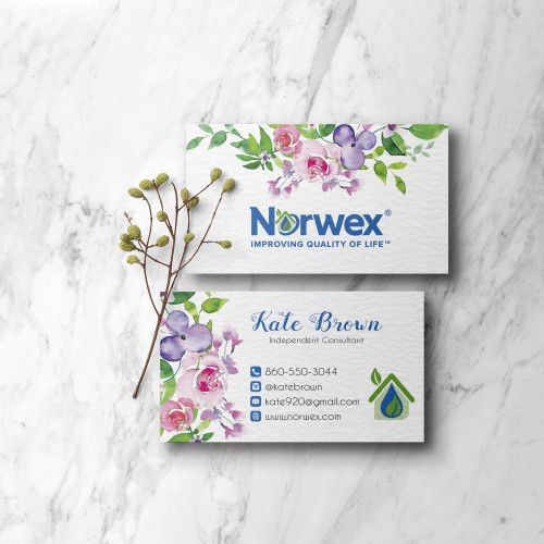 Norwex Business Cards Norwex Green Cleaning Business Cards Nw07 Cleaning Business Cards Norwex Floral Business Cards