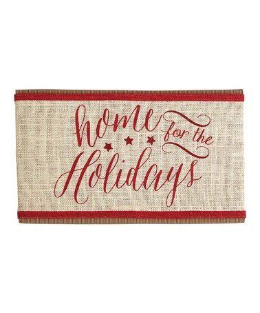 'Home For The Holidays' Pillow Wrap #zulily #zulilyfinds