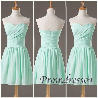 2015 cute sweetheart strapless modest light blue chiffon short prom dress for teens, junior prom dress, ball gown, homecoming dress, evening dress #promdress #coniefox