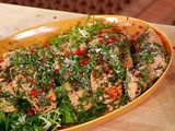 Herbed Pan Roast of Salmon with Warm Greens and Herb Vinaigrette Recipe