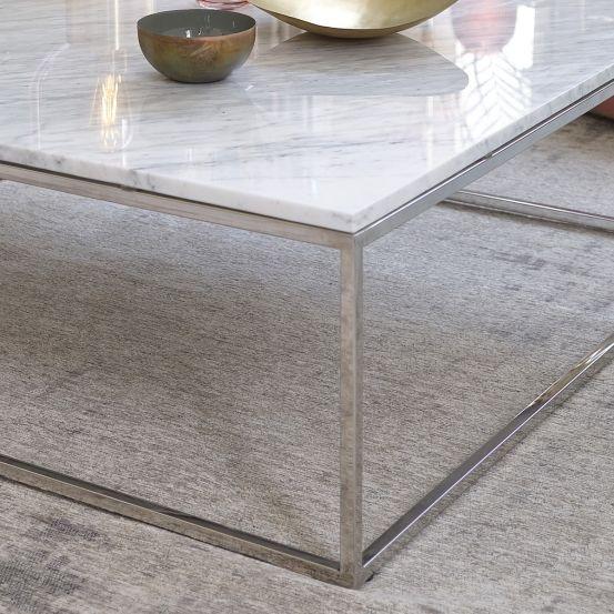 Table Basse Carree En Marbre Blanc Et Metal 100 Mobilier De Salon Bdbd Table Basse Marbre Table Basse Carree Table Basse
