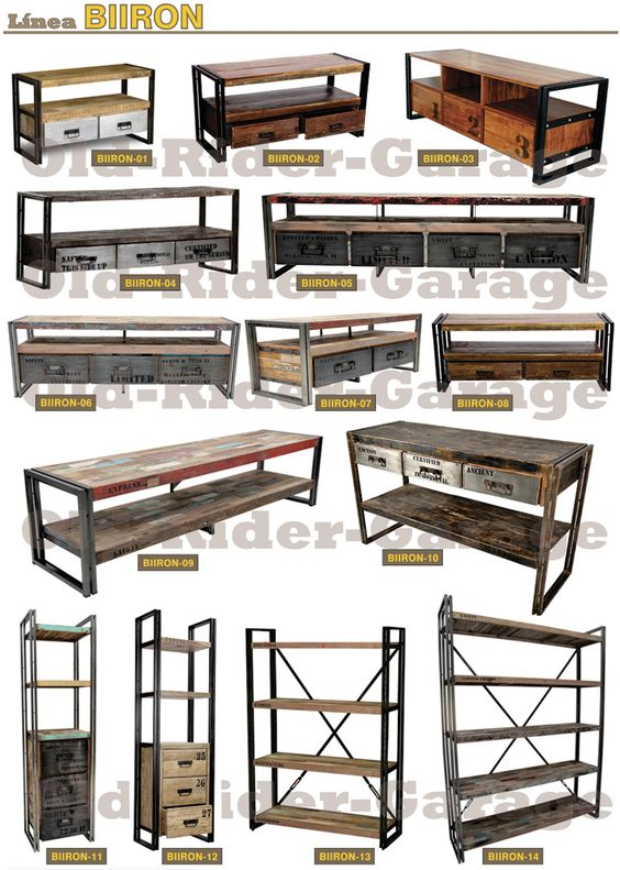 Old rider muebles vintage muebles for Muebles industriales vintage