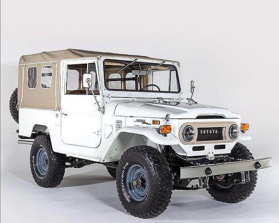 Gorgeous transformed FJ Landcruiser. #white #classiccar ImageCredit: FJCompany