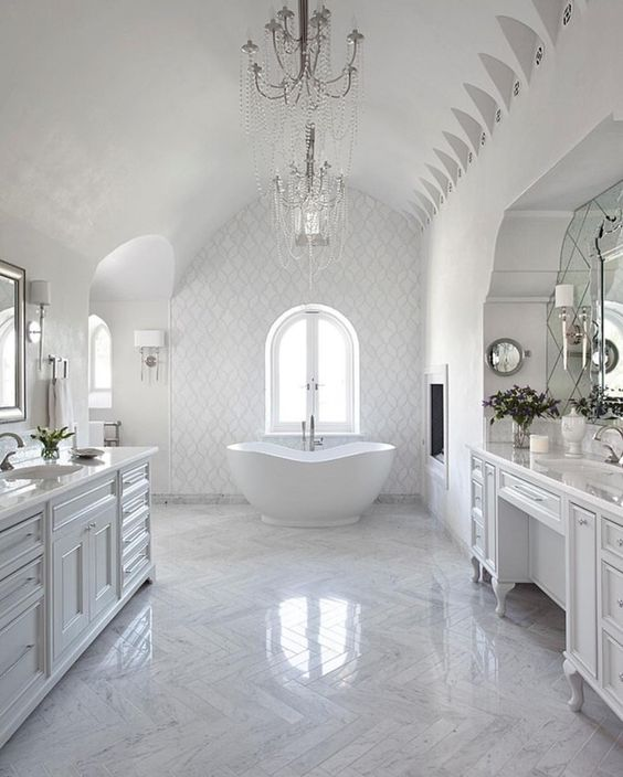 "Inspire Me! Home Decor on Instagram: "" @artistic_tile has my heart fluttering! Beautiful tile work and their newsfeed is gorgeous! Get inspired!"""