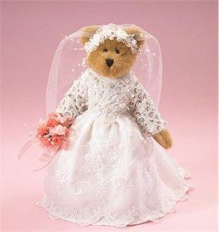 Bride Teddy Bear - Bridal Teddy Bear - Flowergirl Gifts