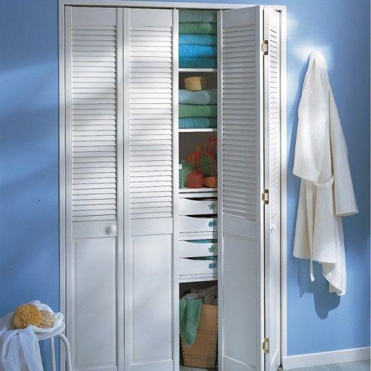 Porte De Placard Pliante Blanc L 60 5 X H 246 Cm Tall Cabinet Storage Cupboard Locker Storage