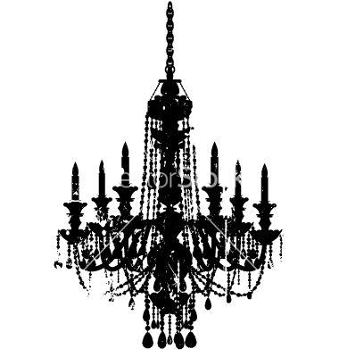 Vintage chandelier vector on VectorStock®