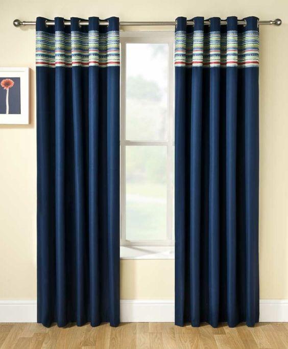 rideaux occultants de couleur bleu rideau ocultant bleu salon moderne - Rideaux Salon