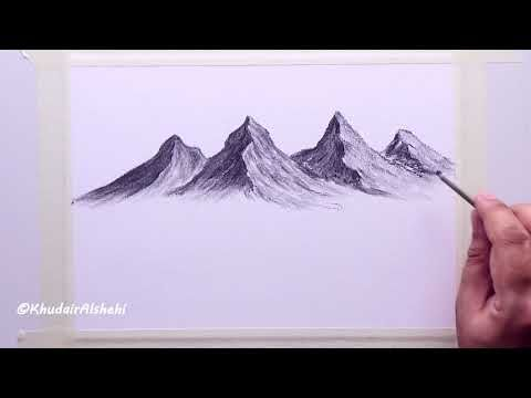 How To Draw Coal Mountains From Fantasy Drawings Tapestry Art