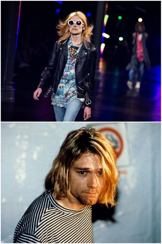 Saint Laurent by Hedi Slimane  Rendir pleitesía a Kurt Cobain