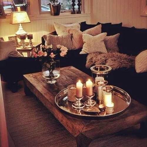 Never Thought A Black Couch Could Be This Cute Family Living Rooms Home Decor Home Living Room