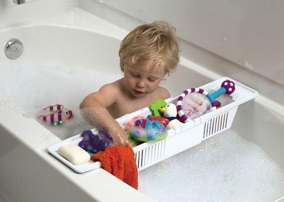 Your child will love having their toys at easy access in the tub with this KidCo Bath Tub Storage! F