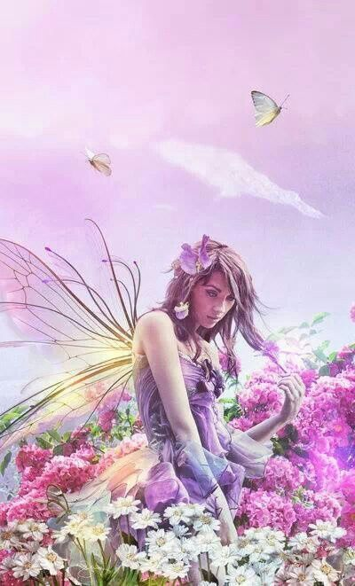Fairy in a field of Flowers: