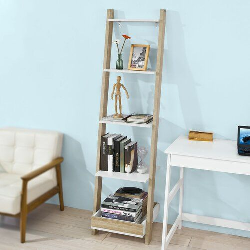 Carothers Ladder Bookcase 17 Stories In 2020 Shelves Bookcase Diy Living Room Decor