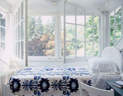 Blue & White bedspread