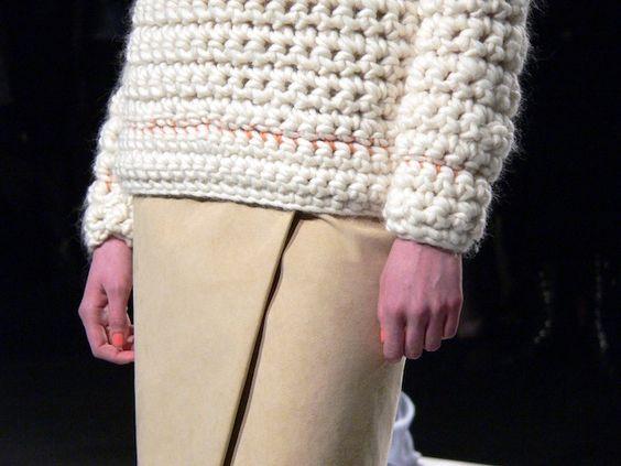 chunky knit/crochet