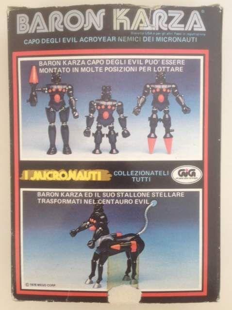 #BaronKarza della serie I #Micronauti originale #GIG anno '78 , in scatola originale e con tutte le parti funzionanti  #modellismo #collezionismo   #vintage   #anni80   #80s #gioco   #giocattolo  #giocattoli