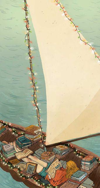 Illustratedladies:  Natalie In the Wild (book boat) I love this.