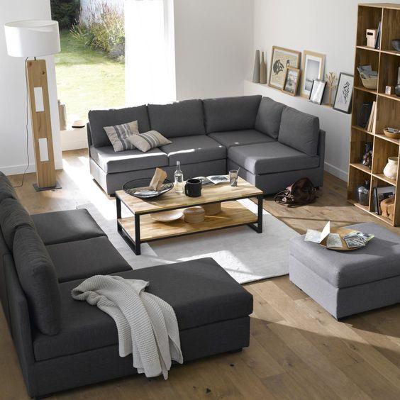 lage tafel dubbel tafelblad massief notelaar afgewerkt met staal hiba la redoute interieurs. Black Bedroom Furniture Sets. Home Design Ideas