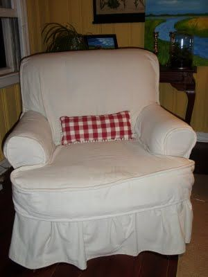 The Old Post Road: Slipcover a Real Chair ? YES, I Can!