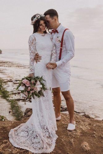 Mens Wedding Attire For Beach Celebration ★  mens wedding attire briefs with red suspenders bow tie bouttoniere adinistorfoto