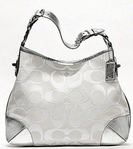 coach on sale outlet d6sm  coach bag silver